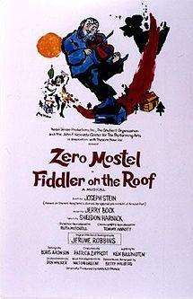 Fiddler on the Roof, music by Jerry Bock, lyrics, Sheldon Harnick, costume design by Patricia Zipprodt