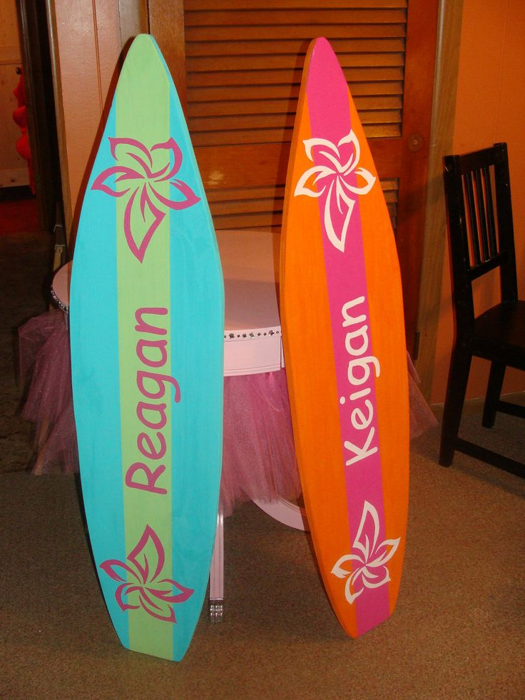 4 Foot Surfboard wall art, Beach decor wall hanging (Will personalize for  free) kids room sign