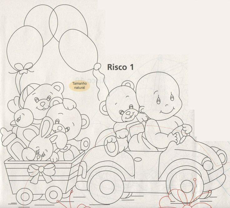Beb No Carrinho Riscos Para Pintura Em Tecido Pinterest