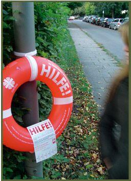 Rettungsringe für die Hamburger Caritas von Orange Cube