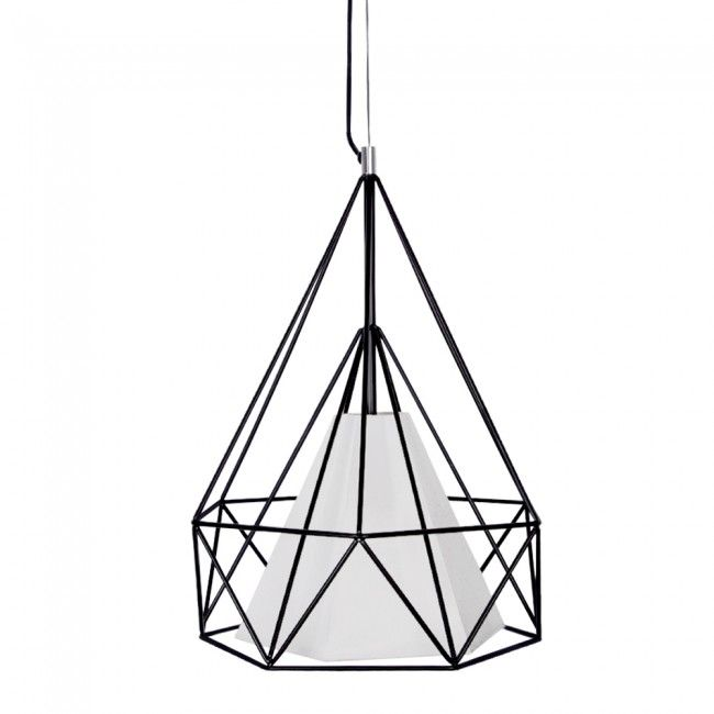 Ceiling Lights Tesco Direct : Industrial style polygon diamond metal ceiling light