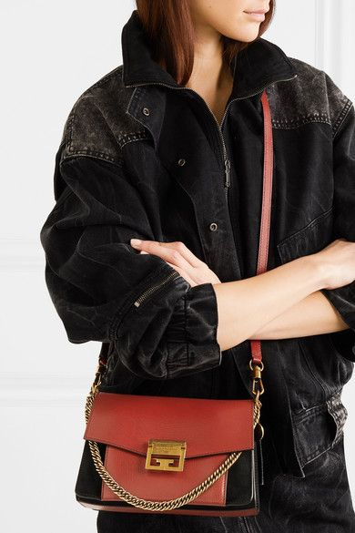 ce90b1c02e3 Givenchy - Gv3 Small Leather And Suede Shoulder Bag - Red