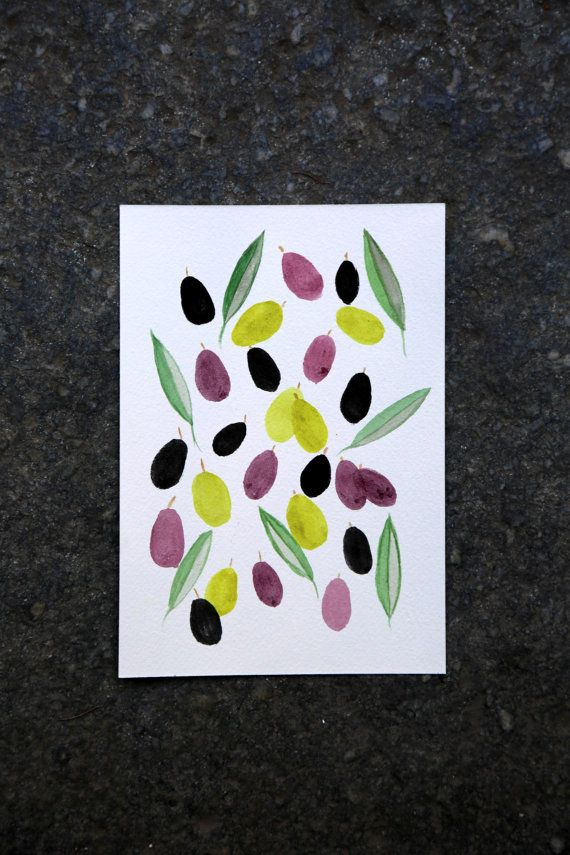 Olive watercolor.