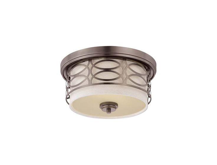Nuvo lighting 60 4727 harlow 2 light flush mount indoor ceiling fixture 13 375 hazel