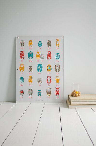 • ABC-Plakat von 'zenzi design & Söhne' von zenzi design auf DaWanda.com