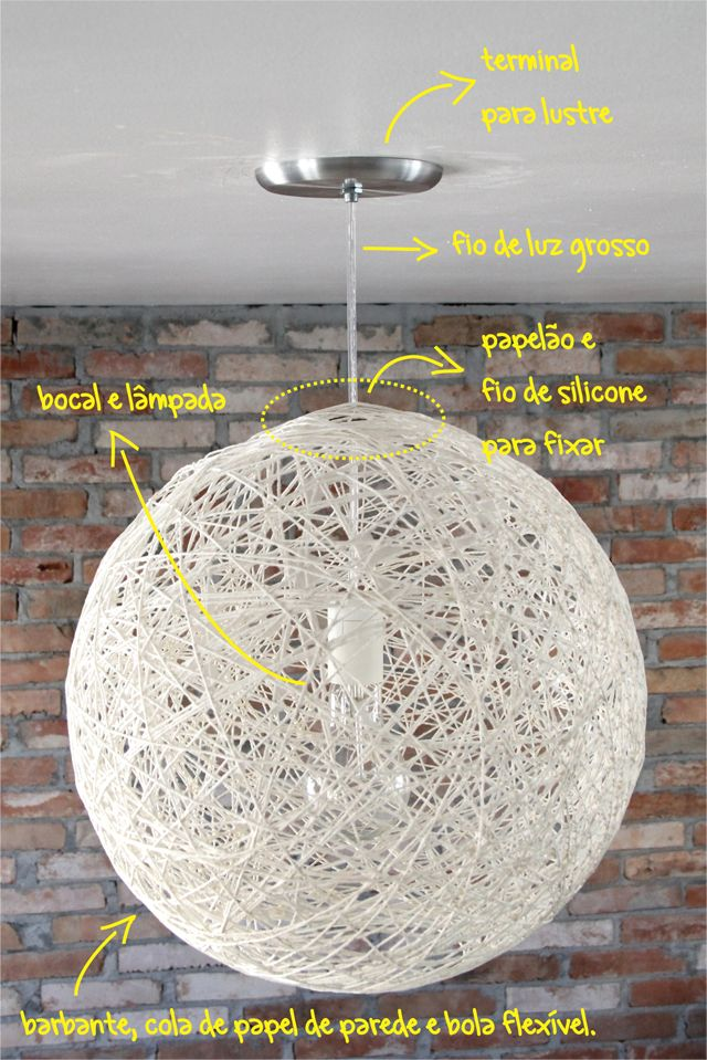 #homecustom – Tutorial: Lustre de Barbante