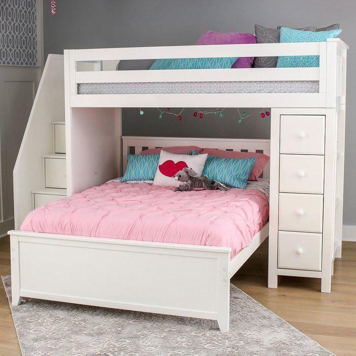 Ayres L Shaped Bunk Beds With Drawers And Bookcase 1000 2020 Yatak Depolama Beyaz Nevresim Takimi Ranza Yatak
