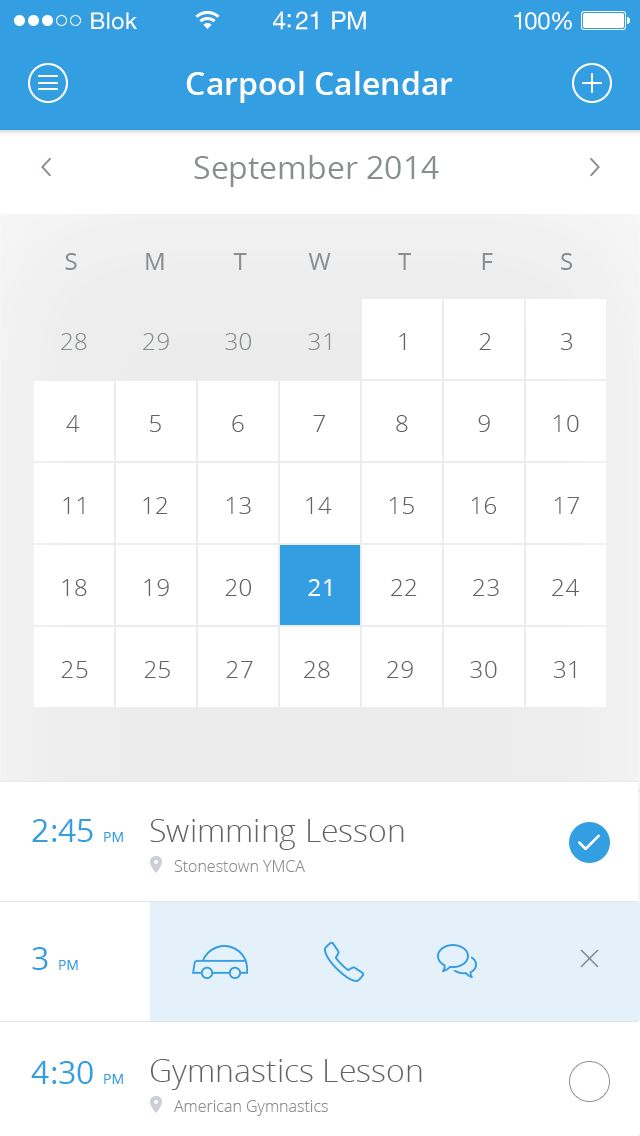 Calendar - by Irina   #ui #ios