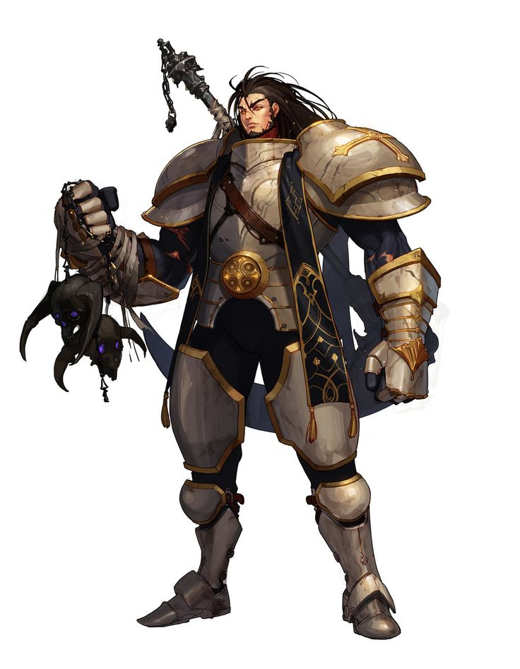 The black-haired warrior in bronze and golden armor.