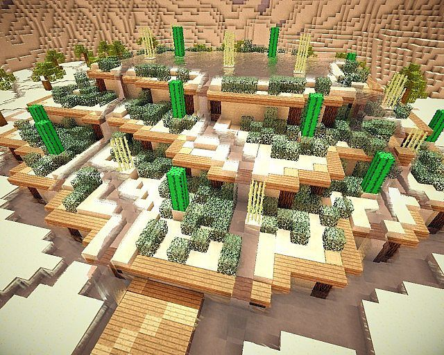 desert oasis minecraft project