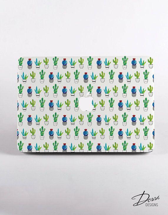 Hard Plastic Cactus Pattern MacBook Case Design for MacBook Pro Retina Display and MacBook Air Case