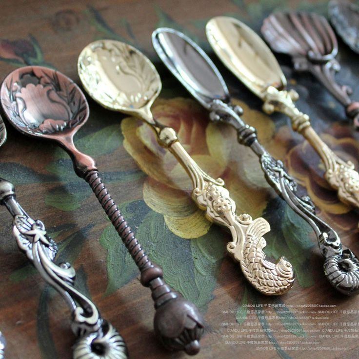 Vintage teaspoons add a little something extra to your dessert/coffee/tea table.