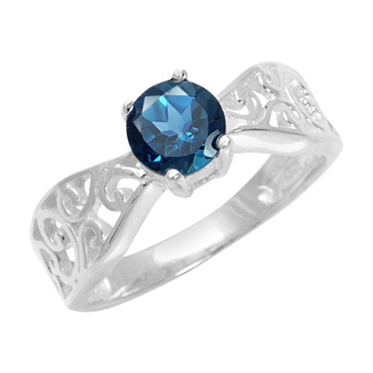 Zilveren+ring+met+een+Londen-blauwe+topaas+-+een+scherpe+aanbieding+van+Juwelo.+Direct+van+de+fabrikant+en+dus+erg+voordelig+geprijsd.+Elk+sieraad+met+echtheidscertfificaat.