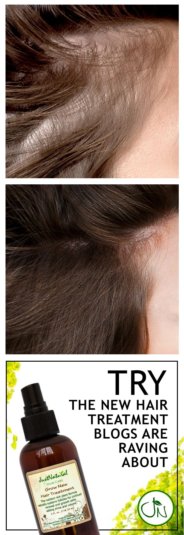 Encourage your hair to grow faster, longer and fuller with less breakage with Just Natural's Grow New Hair treatment. Find it at https://justnutritive.com/gnew-hair-therapy/