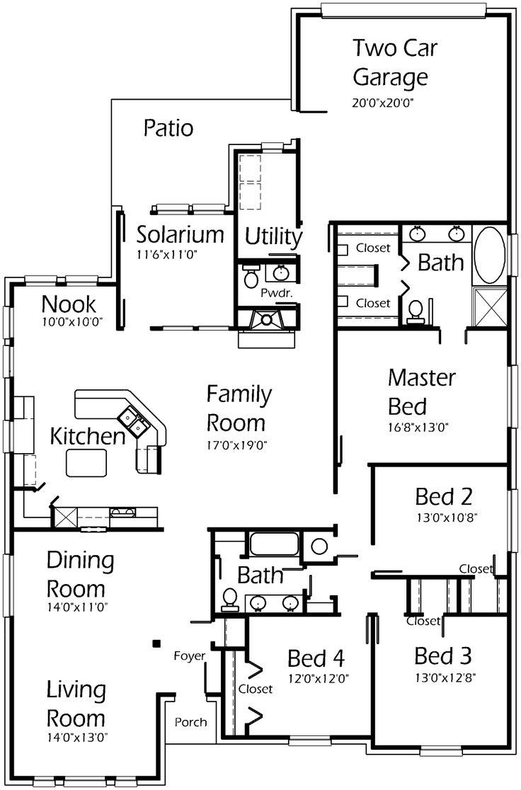 42 best casas images on pinterest | house floor plans
