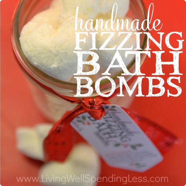 Handmade Fizzing Bath Bombs | How to Make Bath Bombs