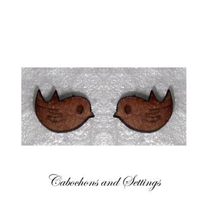 Show details for Robin Myrtle Wooden Laser Cut native Animals / Birds Cabochons