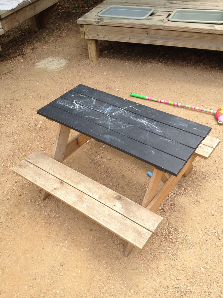 Image result for kids blackboard outdoor table