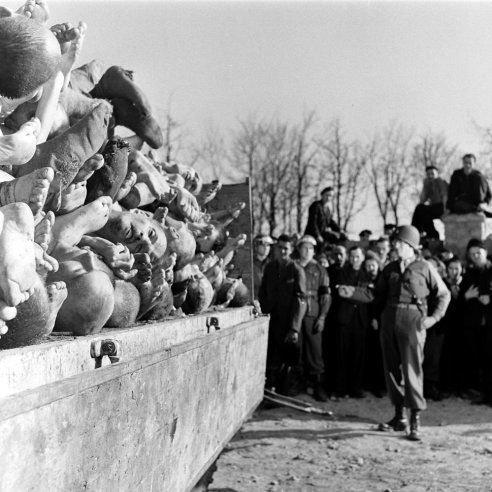 The dead at Buchenwald, April 1945. Margaret Bourke-White