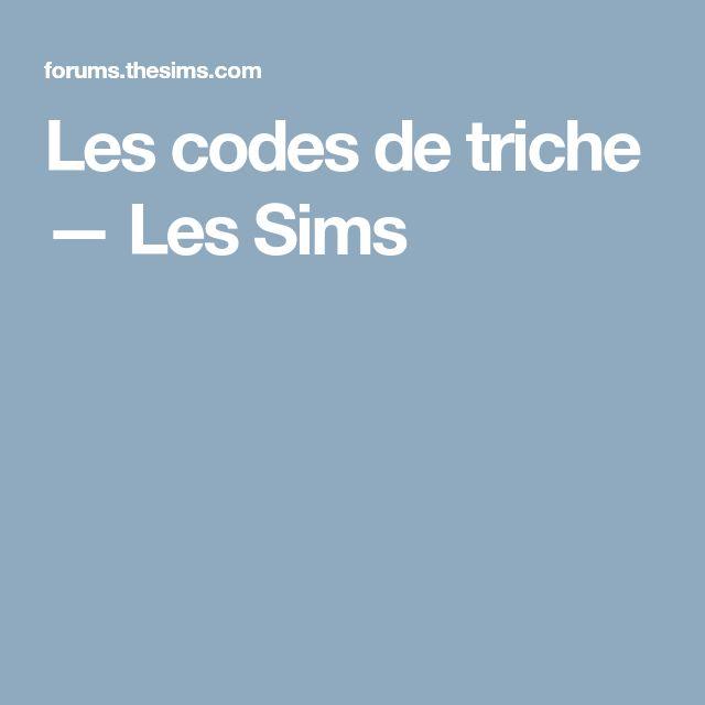Les codes de triche — Les Sims
