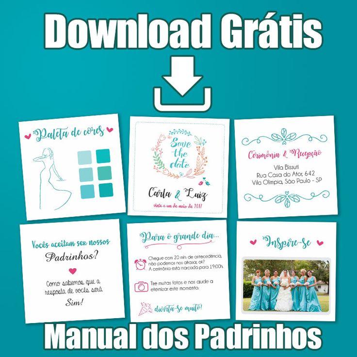 Download Gratuito Manual dos padrinhos  http://spazioconvites.com.br/manual-dos-padrinhos-editavel/