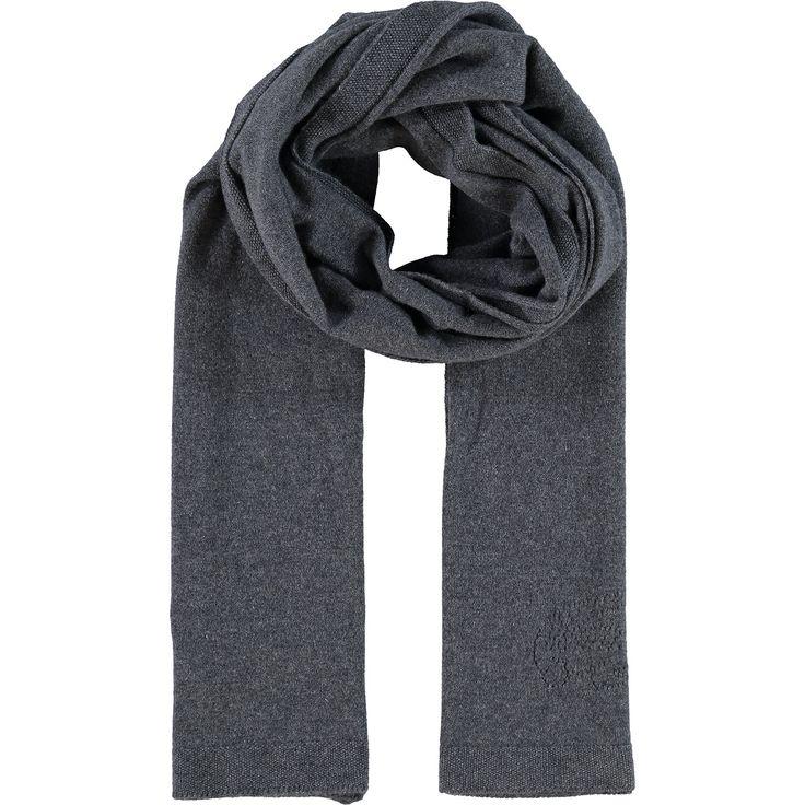 """""""Lacoste"""" Grey Cashmere Knit Scarf - TK Maxx"""
