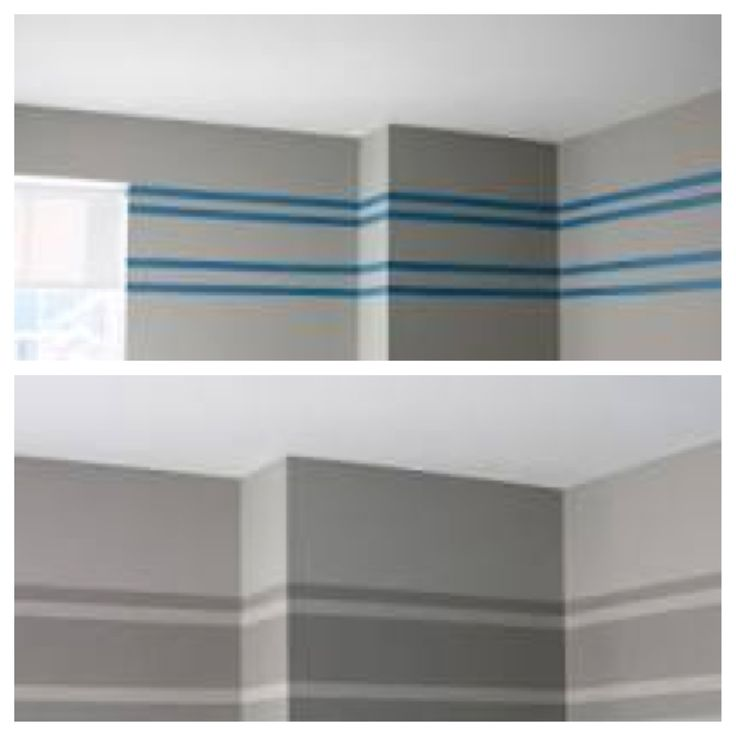 Gray striped wall ideas for the home pinterest grey for Bedroom stripe paint ideas