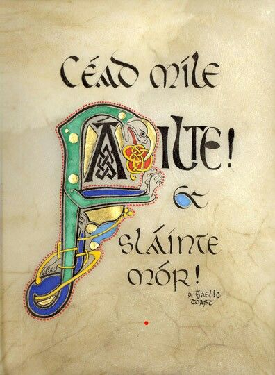 """A Gaelic toast ... """"A hundred thousand Welcomes! ... Cheers/Good health!"""""""
