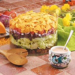 Layered Taco Salad nice for light supper