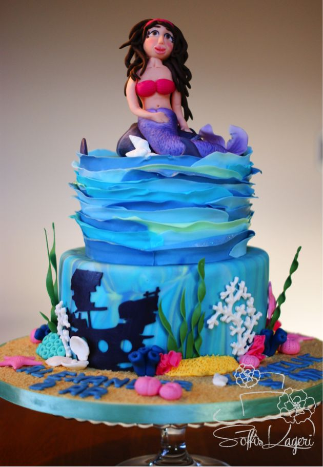 Mermaid cake Soffi's kageri