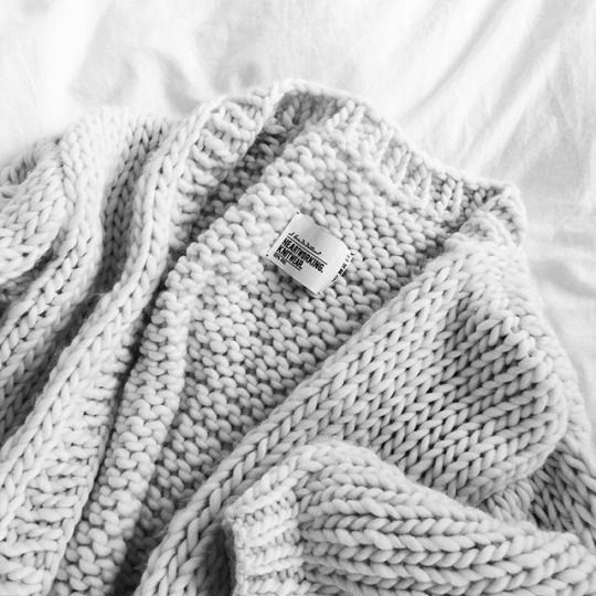 White | Knit | Wool | Soft | Fashion