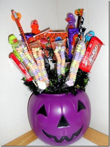 Halloween candy bouquet ideas pinterest