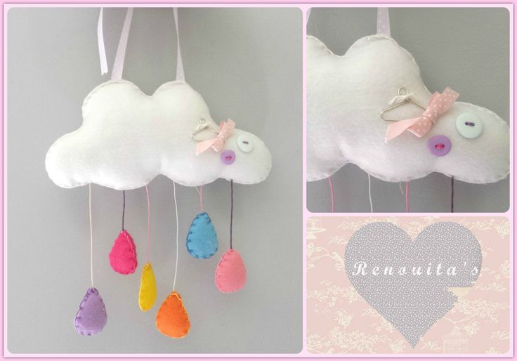 cloud mobile, nursery decor, babyroom