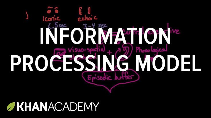 Information processing model: Sensory, working, and long term memory | M...