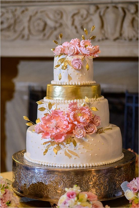 hot pink and gold wedding cake pink and gold cake www imgkid the image kid 15331