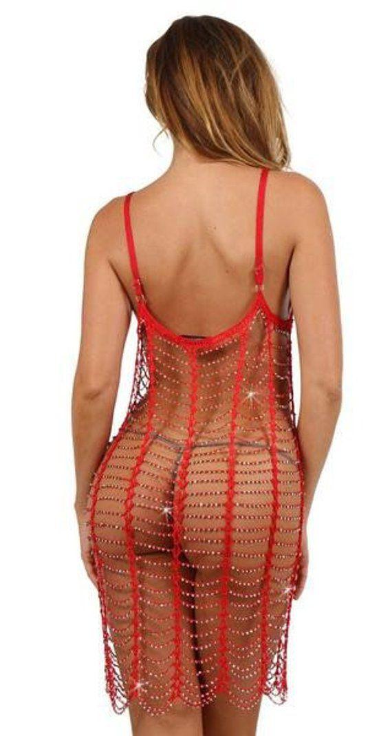 b1c925d82e See through sexy beach night dress crochet cover up beaded erotic stripper  gipsy boho