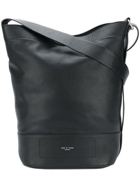 RAG & BONE logo stamp shoulder bag. #ragbone #bags #shoulder bags #leather #