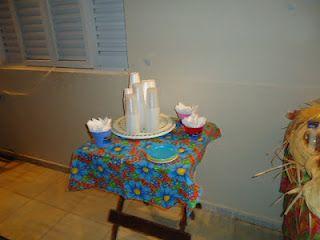 Chita na decoração da festa junina