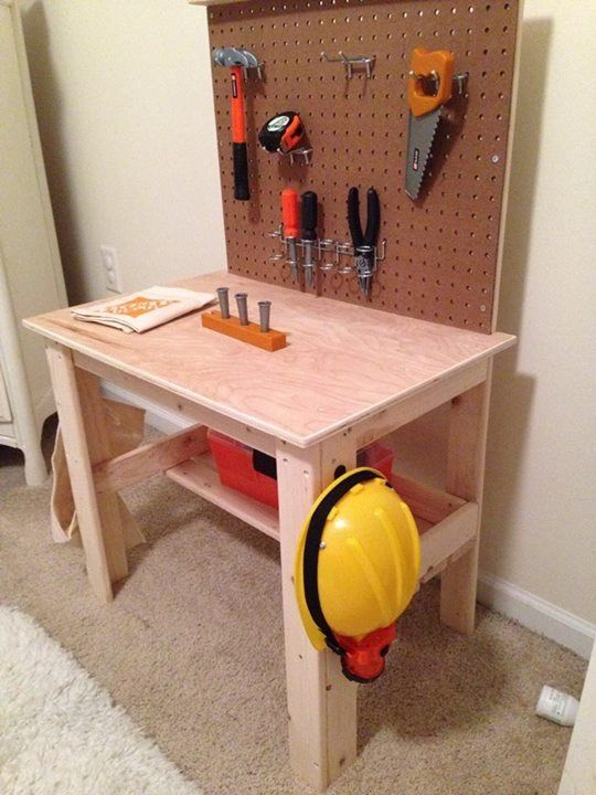 Kid Tool Bench Garage Ideas Pinterest
