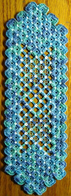 Hardanger Embroidery Bookmark.