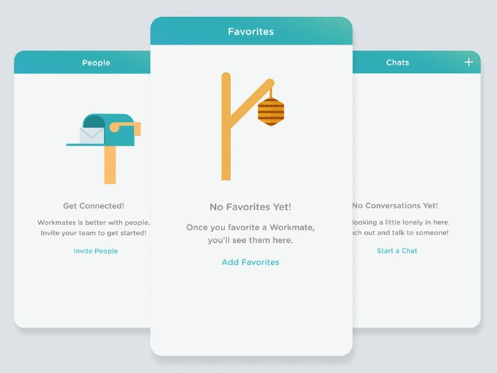 40 Clever Empty State Designs for Mobile Apps