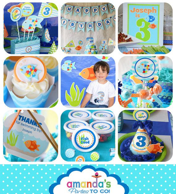 1000 ideas about fish party decorations on pinterest for Fish party decorations