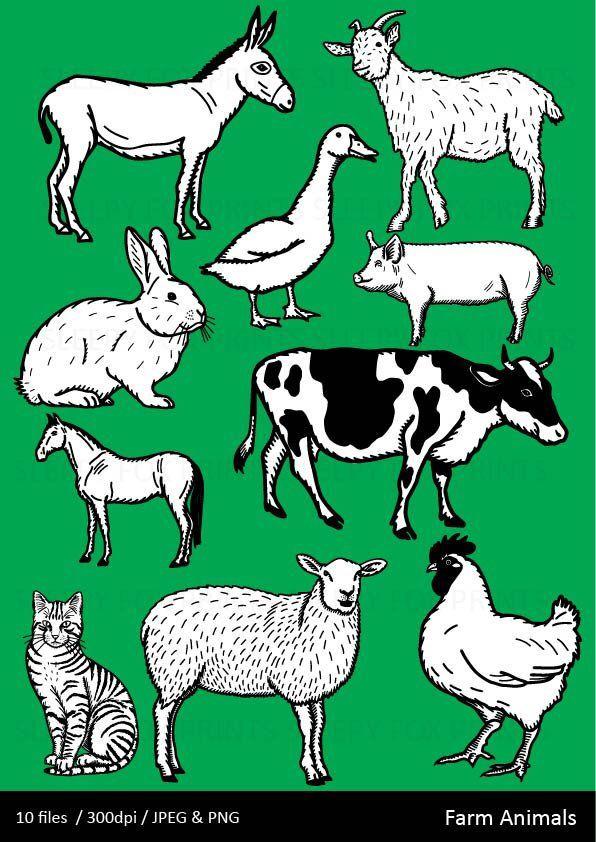 Farm Animal Clipart, C...