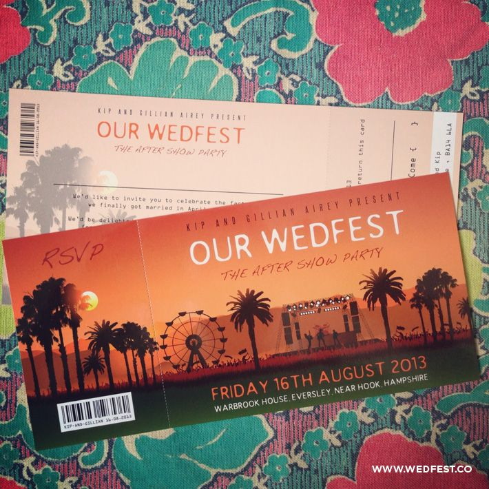 Coachella Festival Themed Wedding Invitations