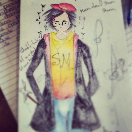 Old pencil draw of Harry Potter...as a Kpoper! <3