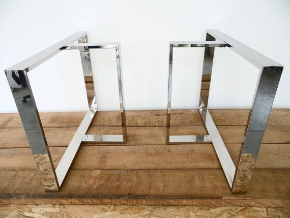 28 x 28 x 18 T-Look Table Bases STAINLESS STEEL by Balasagun