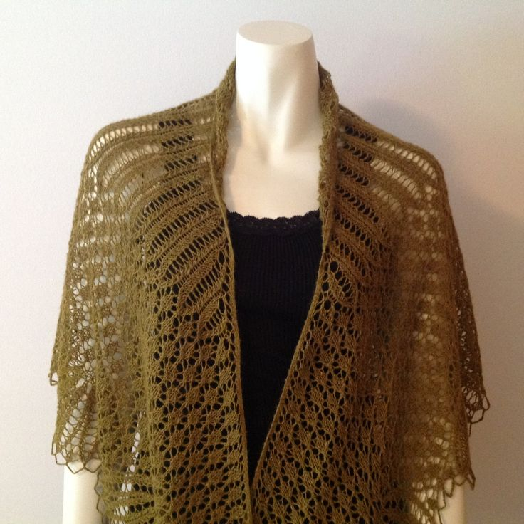 Qiviut Knitting Patterns : QIVIUT shawl, hand knitted in a beautiful lace pattern Handmade Pinterest...