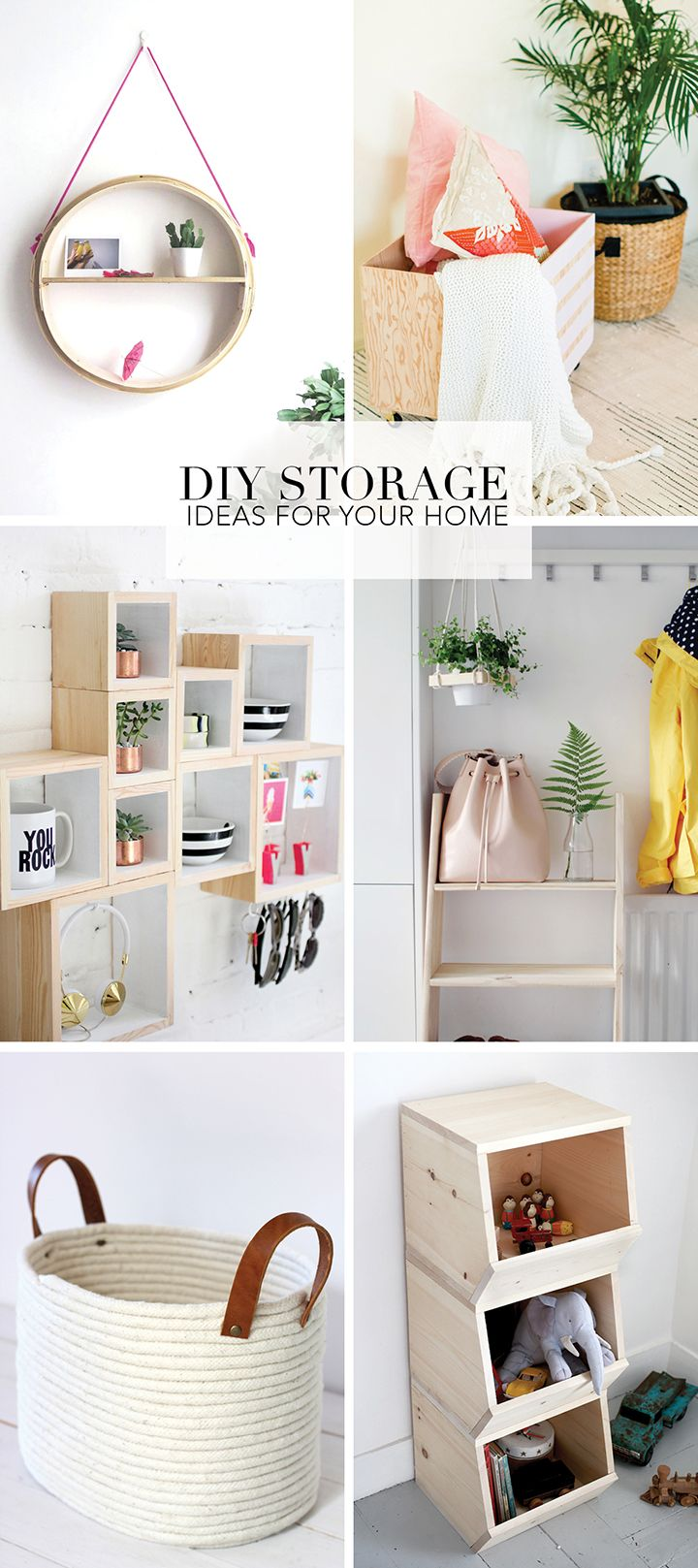 We've put together a list of some of favorite DIY home storage ideas. Time to organize! These projects will get you inspired to get organized!