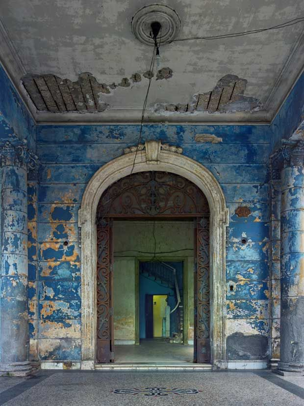 Blue Archway in Havana photographed by Michael Eastman | Paint + Pattern
