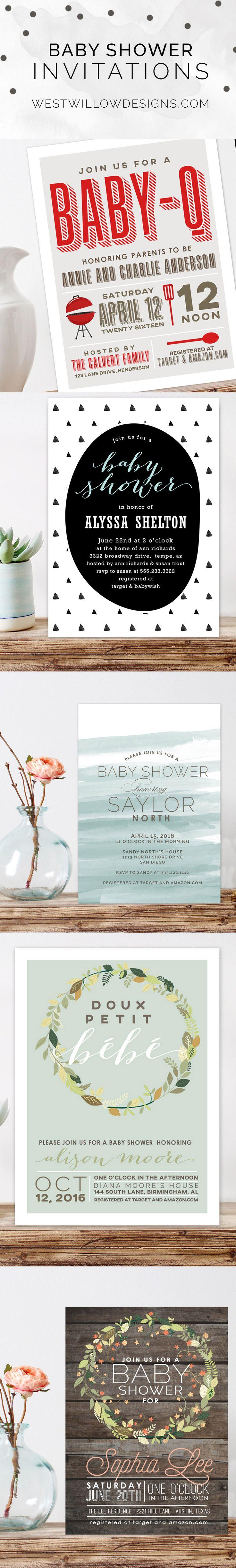 Custom baby shower invitations 34 best modern